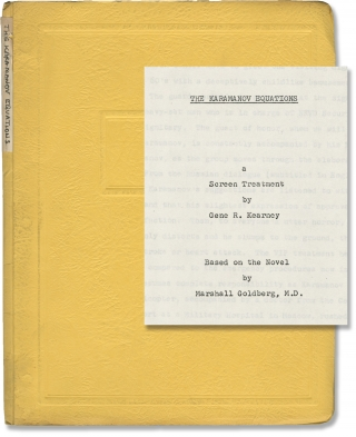 The Karamanov Equations (Original treatment script for an unproduced film). Gene R. Kearney,...