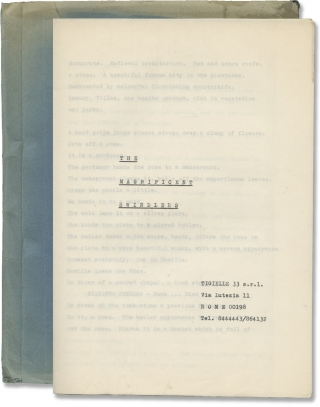 The Magnificent Swindlers (Original treatment script for an unproduced film). Unknown