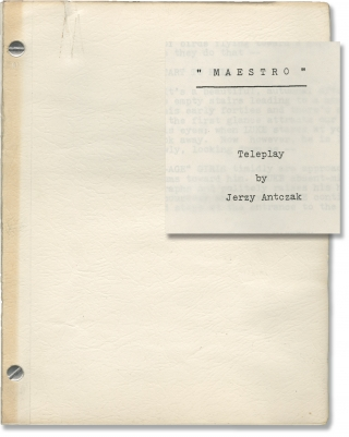 Maestro (Original screenplay for the 1965 television film). Jerzy Antczak, Zdzislaw Skowronski,...