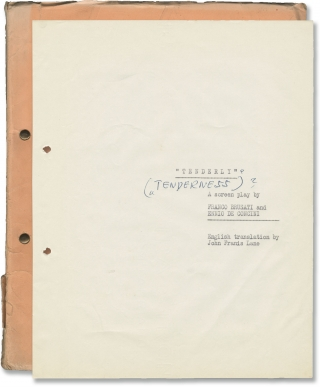 The Girl Who Couldn't Say No [Tenderly] (Original treatment script for the 1968 film). Franco...