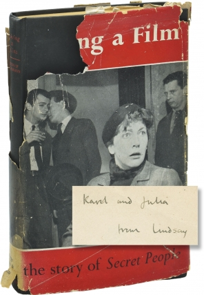 Making a Film: The Story of 'Secret People' (First UK Edition, inscribed by Lindsay Anderson to...