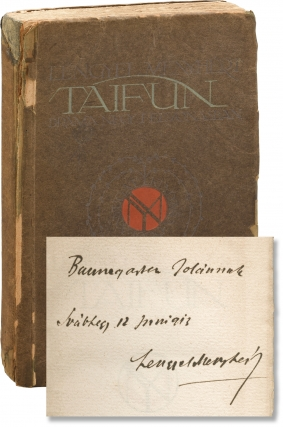 Taifun [Typhoon] (First Edition, inscribed by the author). Melchior Lengyel