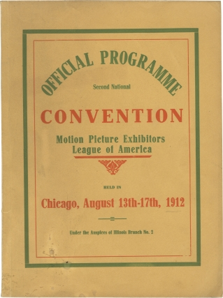 Original program for the Second National Convention of the Motion Pictures Exhibitors League of...