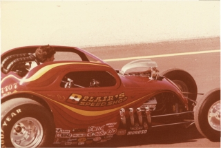 Archive of 23 photographs of 1970 National Hotrod Association Winternationals. Auto Racing