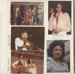 Archive of photographs of country music acts, circa 1970s