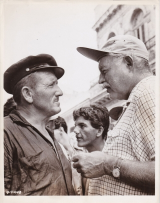 The Old Man and the Sea (Original photograph from the set of the 1958 film). Ernest Hemingway,...