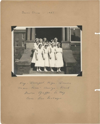 Original scrapbook belonging to a nursing student, circa 1937