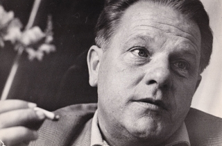 Original photograph of Lawrence Durrell, circa 1960. Lawrence Durrell, Leon Herschtritt, subject...