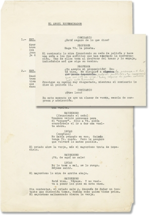 The Exterminating Angel (Original screenplay for the 1962 film, annotated throughout by Bunuel)....