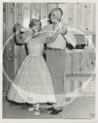 Archive of photographs from Les Gotches Square Dance Institute at Kirkwood Lodge on Missouri's Lake of the Ozarks, 1956