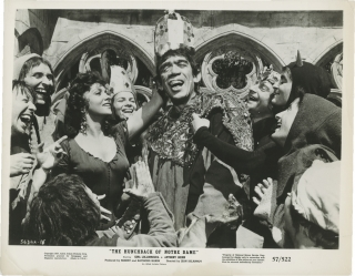 The Hunchback of Notre Dame (Collection of five original photographs from the 1956 film). Jean...