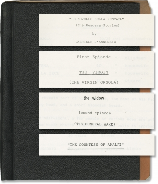 Le Novelle Della Pescara (Three original screenplays for an unproduced television series)....