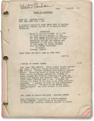North by Northwest (Original screenplay for the 1959 film belonging to actor Martin Landau)....