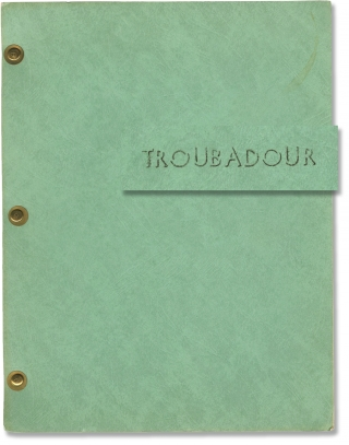 Troubadour (Original treatment script for an unproduced television series). Scott Fitz-Randolph,...