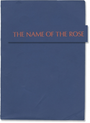 The Name of the Rose (Original screenplay for the 1986 film). Jean-Jacques Annaud, Gerard Brach...