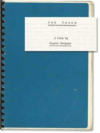 The Touch (Original treatment script for the 1971 film, with annotations by translator Alan...