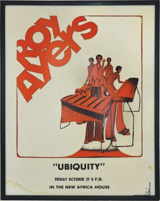 Roy Ayers Ubiquity (Original poster for a 1972 performance). Roy Ayers