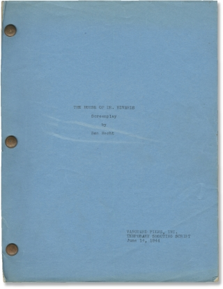 Spellbound [The House of Dr. Edwards] (Original screenplay for the 1945 film). Alfred Hitchcock,...