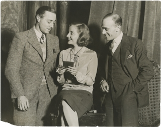 Original photograph of Tallulah Bankhead rehearsing a vaudeville sketch, 1929. Tallulah Bankhead,...