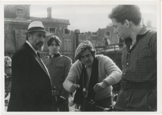 1900 (Original photograph on the set of the 1976 film). Bernardo Bertolucci, Giuseppe Bertolucci...