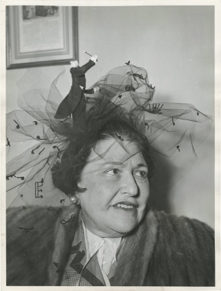 Original photograph of Louella Parsons. Louella Parsons, Michel Brodsky, subject, photographer