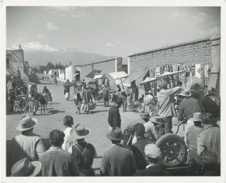 Fiesta (Original photograph of director Richard Thorpe on the set of the 1947 film musical)....