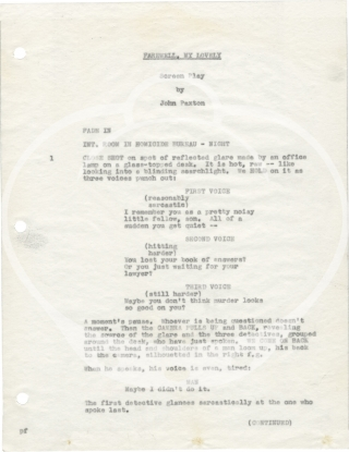 Murder, My Sweet [Farewell, My Lovely] Original screenplay for the 1944 film)