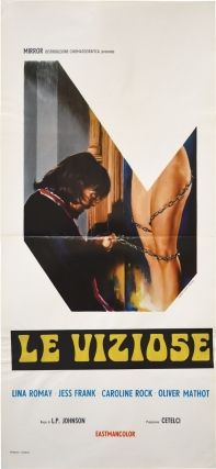 Exorcisme [Le Viziose] (Original Italian Locandina poster for the 1975 film). Jess Franco, Henri...