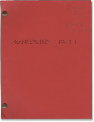 Frankenstein (Two original screenplays for the two part 1973 television film). Mary Shelley,...