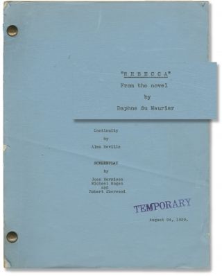 Rebecca (Original early draft screenplay for the 1940 film). Alfred Hitchcock, Daphne du Maurier,...