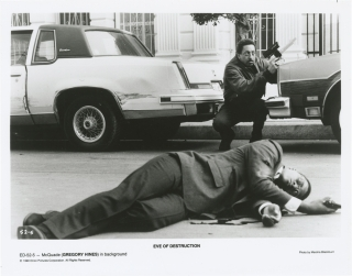 Eve of Destruction (Collection of eight original photographs from the 1991 film). Duncan Gibbins,...