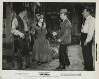 Town Tamer (Two original photograph from the 1965 film). Lesley Selander, Frank Gruber, Terry...