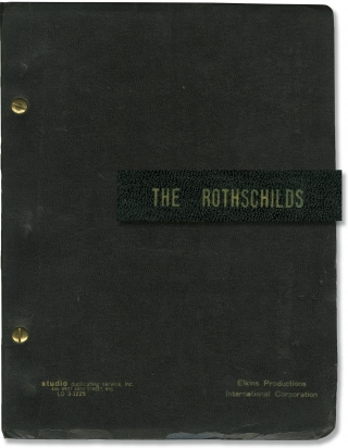 The Rothschilds (Original script for the 1970 musical play). Sherman Yellen, Jerry Bock, Sheldon...