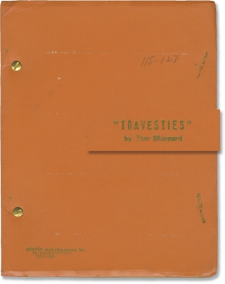 Travesties (Original script for the 1975 play). Tom Stoppard, Peter Wood, John Bott James Booth,...