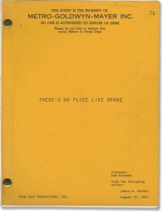 Hold On! [There's No Place Like Space] (Original screenplay for the 1966 film). Arthur Lubin,...
