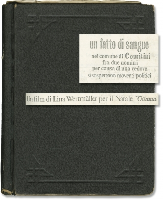 Blood Feud [Titoli di Testa] (Original screenplay for the 1978 film). Lina Wertmuller, Marcello...