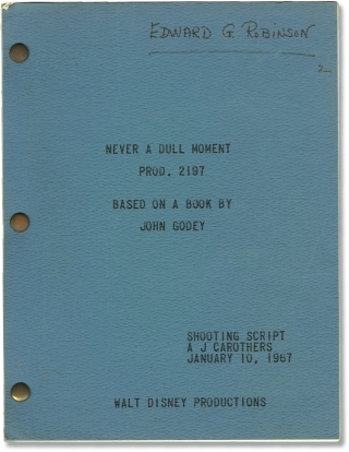 Never a Dull Moment (Original screenplay for the 1968 film, copy belonging to actor Edward G....