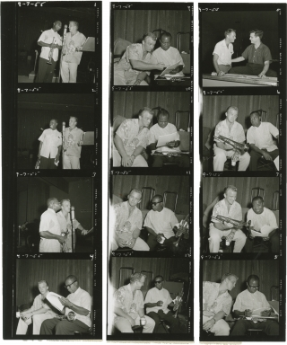 The Gary Crosby Show (Original contact sheet from the 1955 radio show). Louis Armstrong, Gary...
