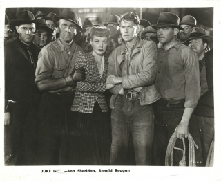 Juke Girl (Collection of ten original photographs from the 1942 film). Ronald Reagan, Curtis...