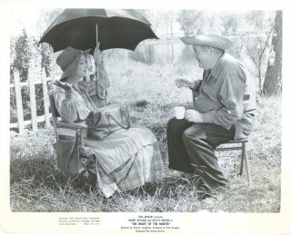 Night of the Hunter (Original photograph of Charles Laughton and Lillian Gish on the set of the...