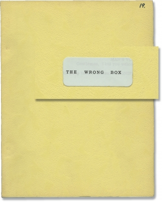 The Wrong Box (Original screenplay for the 1966 film). Bryan Forbes, Lloyd Osbourne Robert Louis...