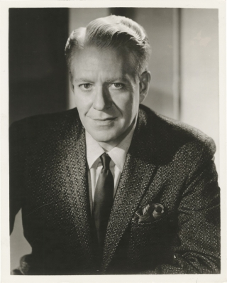 Two original photographs of Nelson Eddy, circa 1959. Nelson Eddy, subject