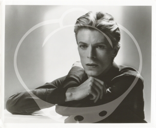 Two original photographs of David Bowie promoting his appearance in the 1976 film The Man Who Fell to Earth