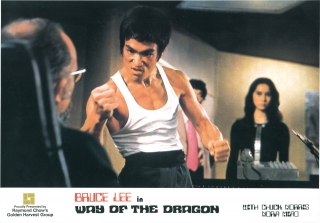 The Way of the Dragon (Collection of three original lobby cards for the 1972 film). Bruce Lee,...