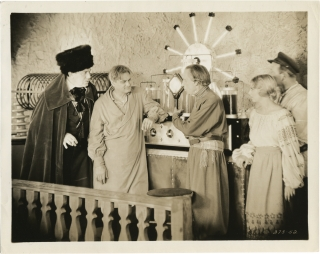 The Mysterious Island (Two original photographs from the 1929 film). Jules Verne, Lucien Hubbard,...