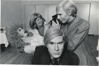 Andy Warhol and the cast of Pork (Original photograph from the 1971 play). Andy Warhol, Cleve...