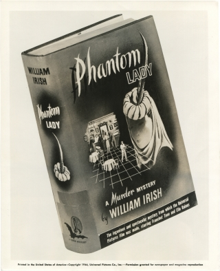 Phantom Lady (Original photograph of the 1942 novel, made for the 1944 film). Cornell Woolrich,...
