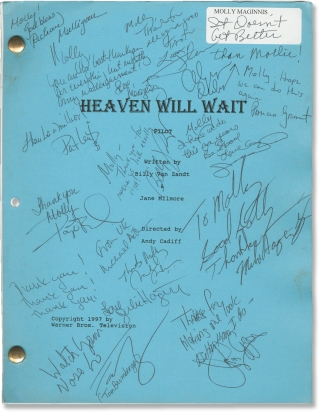 Heaven Will Wait (Original screenplay for the 1997 television film, signed by cast and crew)....