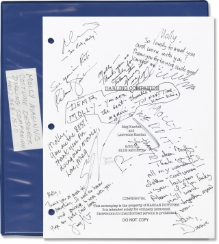 Darling Companion (Costume designer's script for the 2012 film, signed by cast and crew)....