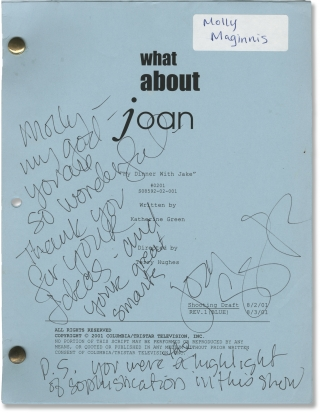 What About Joan: My Dinner With Jake (Original screenplay for the 2001 television episode, signed...
